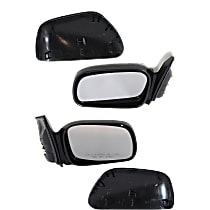 Mirror - Driver and Passenger Side (Pair), Power, Heated, Light Textured, For Coupe