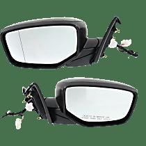 Mirror - Driver and Passenger Side (Pair), Power, Folding, Paintable, For Sedan