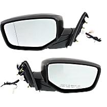 Kool Vue Power Mirror, Passenger Side, Sedan, Manual Folding, Non-Heated, w/o Signal, Paintable