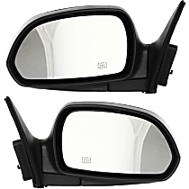 Mirror - Driver and Passenger Side (Pair), Power, Heated, Folding, Paintable, For Sedan