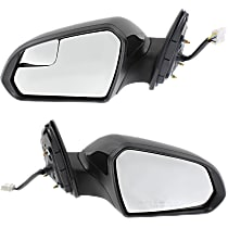 Kool Vue Power Mirror, Driver and Passenger Side, Non-Hybrid Models, Manual Folding, Heated, w/o Signal, Paintable
