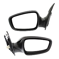 Driver and Passenger Side Heated Mirror - Power Glass, Manual Folding, Without memory, Paintable