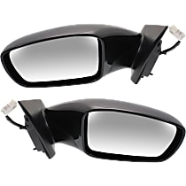 Kool Vue Power Mirror, Driver and Passenger Side, 2.0T Limited/2.0T/GL/GLS/Limited/SE Models, Manual Folding, Heated, w/o Signal, Paintable