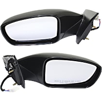 Kool Vue Power Mirror, Driver and Passenger Side, 2.0T Limited/2.0T/GL/GLS/Limited/SE Models, Manual Folding, Non-Heated, w/o Signal, Paintable