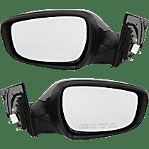 Power Mirror, Driver and Passenger Side, Sedan, USA Built, Manual Folding, Heated, w/o Signal, Paintable
