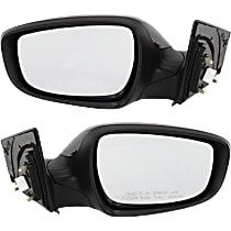 Kool Vue Power Mirror, Driver and Passenger Side, Sedan, USA Built, Manual Folding, Heated, w/o Signal, Paintable
