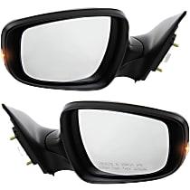 Kool Vue Power Mirror, Driver and Passenger Side, Sedan, USA Built, Manual Folding, Heated, w/ Signal, Paintable