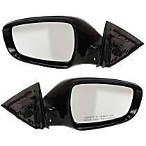 Mirror - Driver and Passenger Side Pair, Power, Heated, Paintable, w/ Turn Signal, Models W/ Panoramic Roof and Side Repeaters