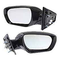 Kool Vue Power Mirror, Driver and Passenger Side, Sport Model, Manual Folding, Non-Heated, w/o Signal, Paintable