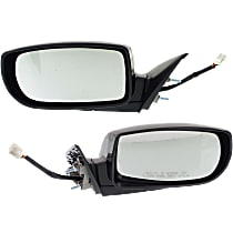 Kool Vue Power Mirror, Driver and Passenger Side, Coupe, Manual Folding, Heated, w/ Signal, Paintable