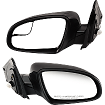 Non-Heated Mirror - Power Glass, Manual Folding, Without Signal Light, Without memory, Paintable