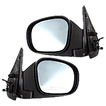 Kool Vue Power Mirror, Driver and Passenger Side, Manual Folding, Blue Glass, Heated, Paintable