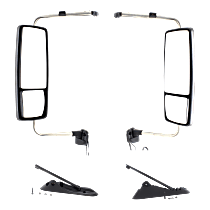 Driver and Passenger Side Heated Mirror - Power Glass, Manual Folding, Without memory, Chrome