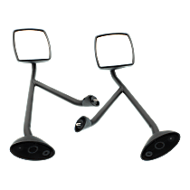 Driver and Passenger Side Non-Heated Mirror - Manual Glass, Manual Folding, Without memory, Paintable
