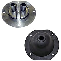 SET-J0801058 Shift Boot - Rubber, Direct Fit, Set of 2