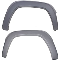 Front, Driver and Passenger Side Fender Flares, Textured Gray