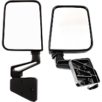 Manual Mirror, Driver and Passenger Side, Manual Folding, Paintable