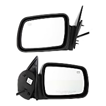 Kool Vue Power Mirror, Driver and Passenger Side, Non-Folding, Heated, w/o Memory, Textured Black