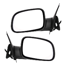 Power Mirror, Driver and Passenger Side, Manual Folding, Non-Heated, Textured Black