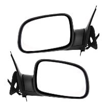 Kool Vue Power Mirror, Driver and Passenger Side, Manual Folding, Non-Heated, Textured Black