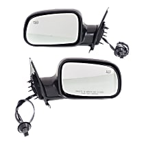 Kool Vue Power Mirror, Driver and Passenger Side, Manual Folding, Heated, w/o Memory, Textured Black