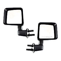 Manual Mirror, Driver and Passenger Side, Textured Black