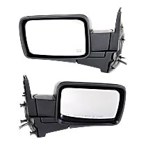 Mirror - Driver and Passenger Side (Pair), Power, Heated, Folding, Textured Black, With Memory