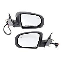 Mirror - Driver and Passenger Side (Pair), Power, Heated, Folding, Paintable, With Turn Signal, Blind Spot Function, Puddle Lamp