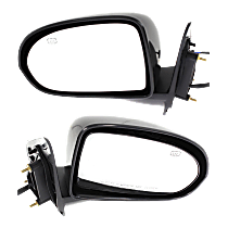 Mirror - Driver and Passenger Side (Pair), Power, Heated, Folding, Paintable, Type 2