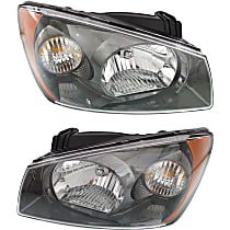 Driver and Passenger Side Halogen Headlight, With Bulb(s) - 2nd Generation
