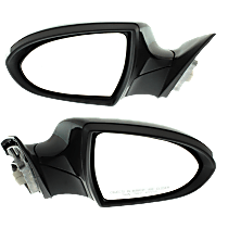 Mirror - Driver and Passenger Side (Pair), Power, Heated, Power Folding, Paintable, With Turn Signal