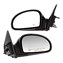 Kool Vue Power Mirror, Driver and Passenger Side, Manual Folding, Heated, Paintable
