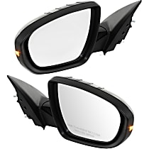 Kool Vue Power Mirror, Driver and Passenger Side, Power Folding, Fits Models w/o Limited Package, Heated, w/ Signal, Paintable