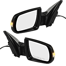 Mirror - Driver and Passenger Side (Pair), Power, Heated, Folding, Textured Black, With Turn Signal