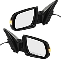 Kool Vue Power Mirror, Driver and Passenger Side, LX/EX Models, Manual Folding, Heated, w/ Signal, Textured Black