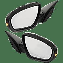 Power Mirror, Driver and Passenger Side, Manual Folding, (Korea Built, Sedan)/Hybrid Model, Heated, w/ Signal, Paintable
