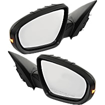 Kool Vue Power Mirror, Driver and Passenger Side, Manual Folding, (Korea Built, Sedan)/Hybrid Model, Heated, w/ Signal, Paintable