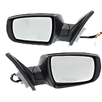 Mirror - Driver and Passenger Side (Pair), Power, Heated, Power Folding, Paintable, With Turn Signal, and Memory