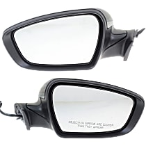 Kool Vue Power Mirror, Driver and Passenger Side, Manual Folding, Heated, w/o Signal and Puddle Light, Paintable