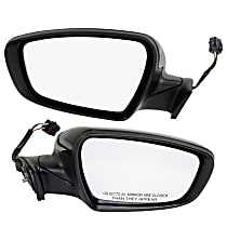 Kool Vue Power Mirror, Driver and Passenger Side, Manual Folding, Heated, w/ Signal, w/o Puddle Light, Paintable