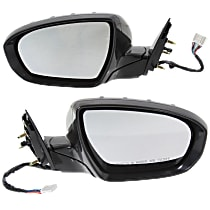 Driver and Passenger Side Heated Mirror - Power Glass, Power Folding, With Memory, Paintable