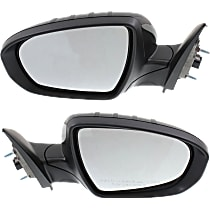 Kool Vue Power Mirror, Driver and Passenger Side, USA Built EX/EX Luxury/Limited/LX/SX/SX Turbo Models, Manual Folding, HTD, w/ Signal, Paintable