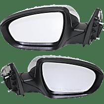 Power Mirror, Driver and Passenger Side, Power Folding, USA Built EX/EX Luxury/LX/SX/SXL Models, Sedan, Heated, w/ Signal, Chrome