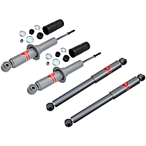 Performance Replacement Front and Rear, Driver and Passenger Side Shocks and struts - Set of 4