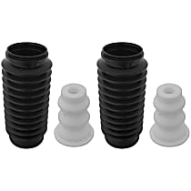 KYB SET-KYSB102 Shock and Strut Boot - Black, Strut boot, Direct Fit, Set of 2
