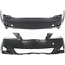 Front and Rear Bumper Cover, Primed - w/o Pre-Collision System, w/o Headlamp Washer Holes