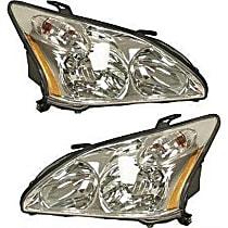 Driver and Passenger Side Halogen Headlight - 2004-2006 Lexus RX330 / 2007-2009 Lexus RX350 / 2006-2007 Lexus RX400h, Japan Built Model