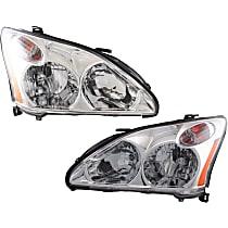 Driver and Passenger Side Halogen Headlight - 2004-2006 Lexus RX330 / 2007-2009 Lexus RX350, USA Built Model