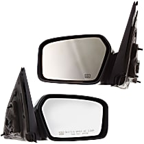 Kool Vue Power Mirror, Driver and Passenger Side, Non-Folding, Heated, w/ Memory and Puddle Light, Chrome