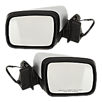 Power Mirror, Driver and Passenger Side, Manual Folding, Heated, w/o Memory and Camera, Paintable